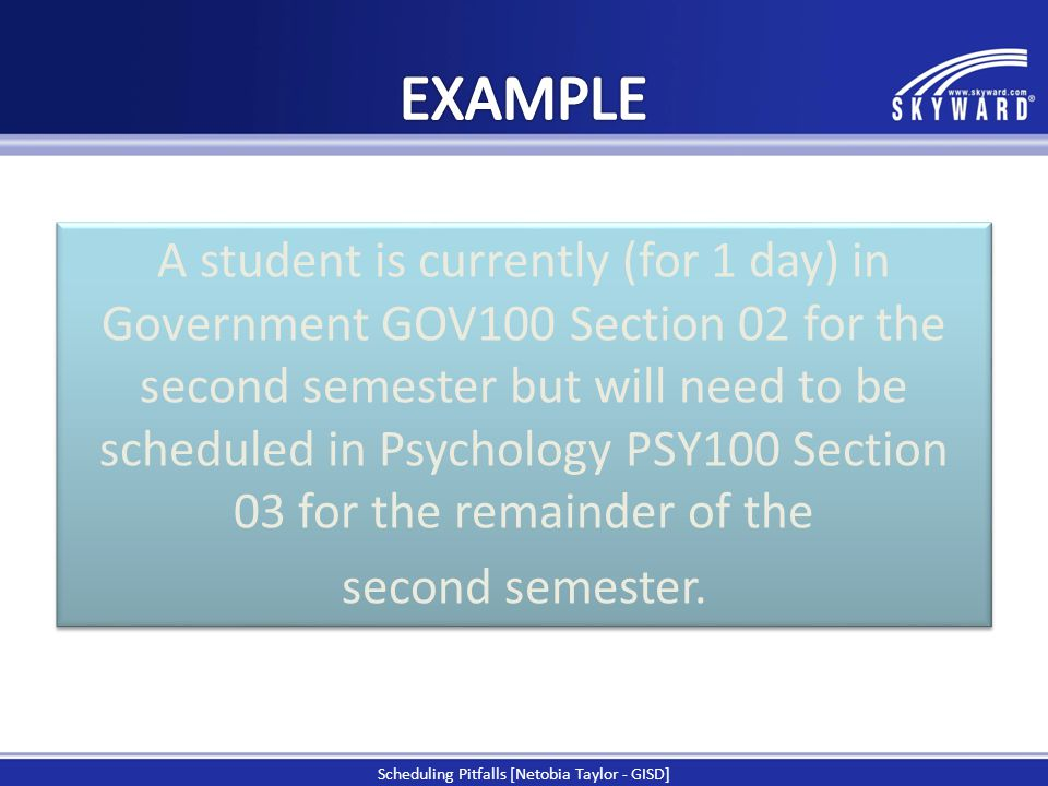 Scheduling Pitfalls [Netobia Taylor - GISD]